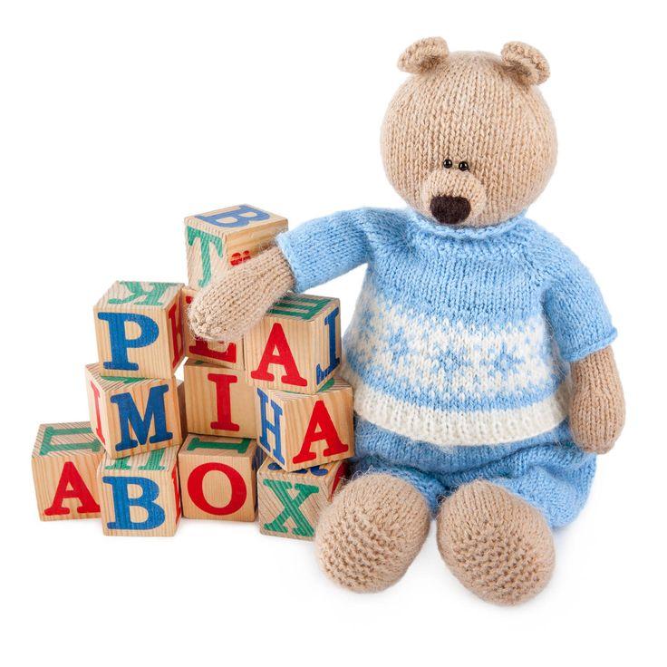 Вязаные игрушки с логотипом на заказ